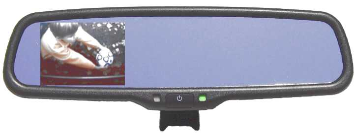 OEM Style Mirror w/ 3.5in LCD Dsiplay